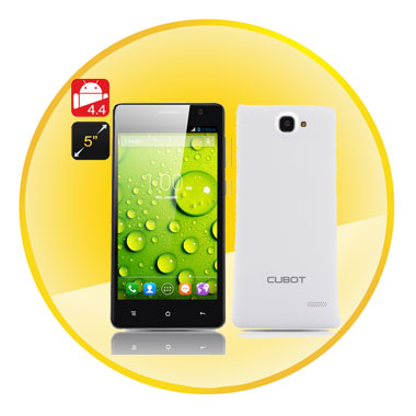 Cubot S168 5 Inch 960x540 IPS Capacitive Screen Quad Core CPU 1GB RAM 8GB Internal Memory Android 4.4  Smartphone