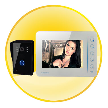 7 Inch Color TFT LCD Video Door Phone Doorbell Intercom Kit