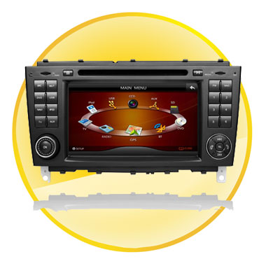 7 Inch Car DVD Player GPS for BENZ C Class W203/CLK Class