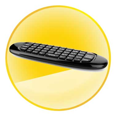 2.4GHz Mini Wireless Gyroscope Air Mouse Keyboard with USB Receiver for PC TV BOX