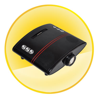 2.0 inch LCD DVD Projector Built-in Speakers