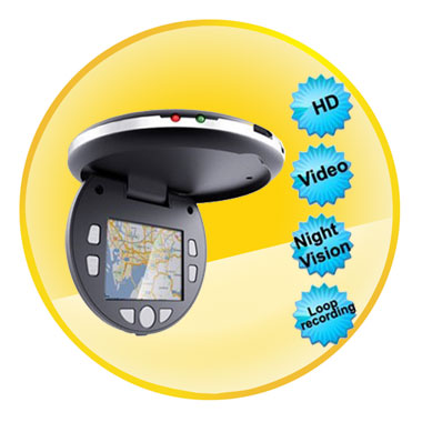 1080P 2.0 Inch Car DVR Camera with Night Vision Motion Detection