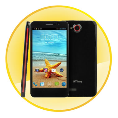 Utime Fx 4GB Quad Core Black 5.0 Inch 3G Android 4.2 Smart Phone