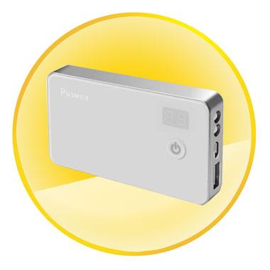 4000mAh Mobile Power Bank+Intelligent Charging+LED Lamp+LED Display