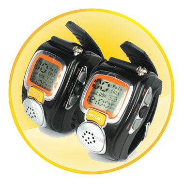 6KM Range Multi Frequency Watch Walkie Talkie (A Pair)
