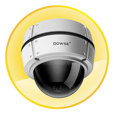 500TVL IR ON 0Lux Color Vandal Proof Dome Camera