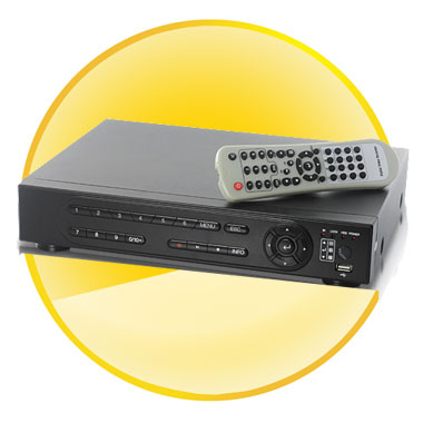 4 Channel Digital Video Recorder Security System (H.264, free 500GB HDD)