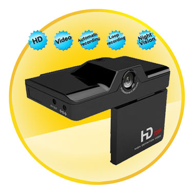 1080P 2.7 Inch Foldable Car Black Box with Cycle Recorder