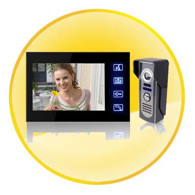 7 Inch TFT LCD Video Door Phone Doorbell Intercom Kit with Night Vision