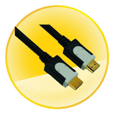 AM-AM Dual Color Connector Gold Plated Plug HDMI Cable