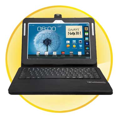 Bluetooth Keyboard case for Samsung Galaxy Tab N8000 N8010 10.1