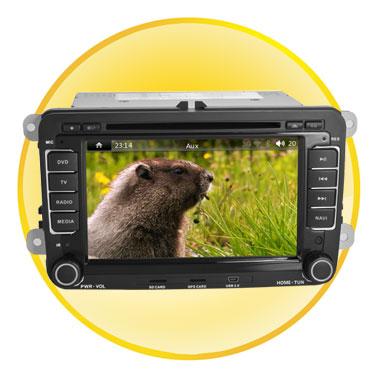 7 inch Special Car PC for VW WINDOWS CE6.0 ARM11 WIFI/3G/1080P/GPS/DVD/BT/SD/USB (Magotan)