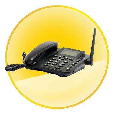 Quadband Wireless GSM SMS Desk Phone