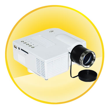 LCD and LED Projection Multimedia Mini Projector with VGA