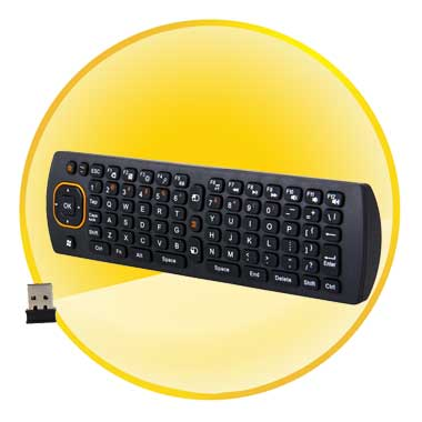 2.4GHz Wireless QWERTY Keyboard Fly Air Mouse Remote for PC Android TV Box