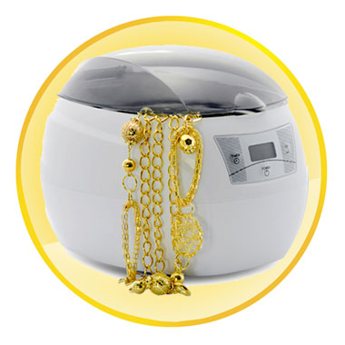 Deluxe Ultrasonic Cleaner for Jewelry, Collectible, Discs ,More