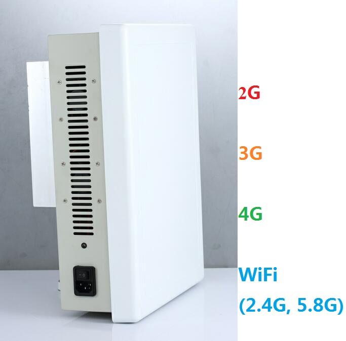 Built-in Antenna Cel Phone Signal 2G/3G/4G + WiFi(2.4G, 5.8G) Jammer Desktop Blocker