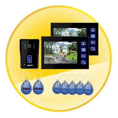 7 inch Color Monitor Touch Key Video Door Phone Doorbell Intercom System IR Camera