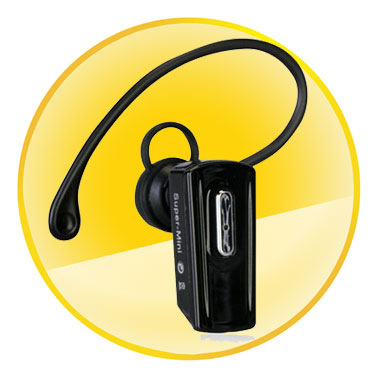 Low Power Comsumption Black Mono Bluetooth Headset