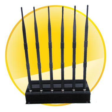 6 Antenna VHF, UHF, cell phone jammer (3G, GSM, CDMA, DCS)