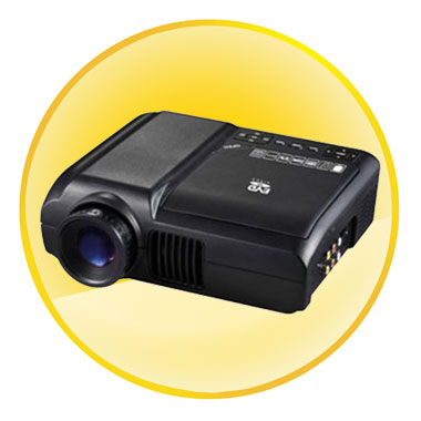 40 Lumens Home Theater LED Portable DVD Projector