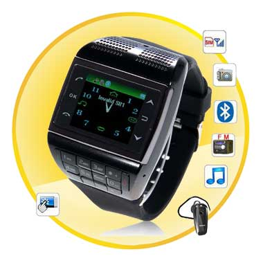 1.4 Inch Single Sim Card Single Standby Watch Phone