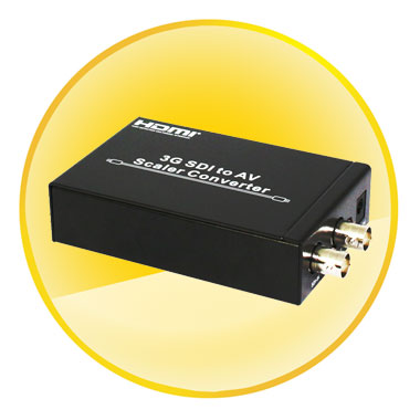 3G SDI to AV Scaler Converter