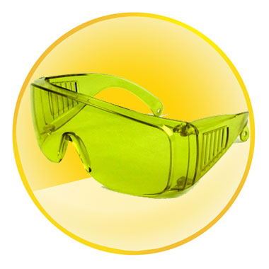 Retractable safety Protective Goggles(Yellow Color)