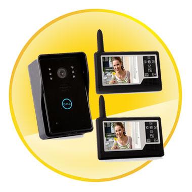 3.5 inch Wireless Video Door Phone Doorbell Intercom System with Waterproof IR Camera