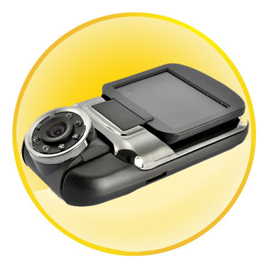 Compact Full HD 1080p Car DVR Dashcam with 120 Degree Ultra Wide Angle Recording