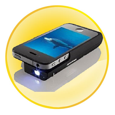 Pocket Type DLP Projector with Backup Battery Charger Case