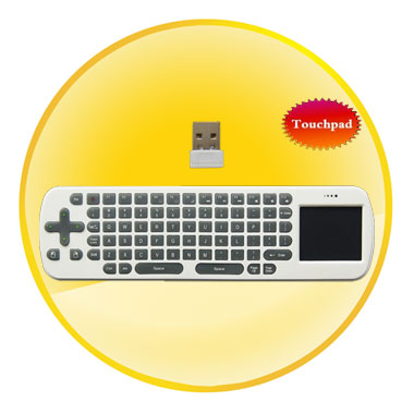 2.4GHz Air Mouse and Wireless Keyboard with Touchpad
