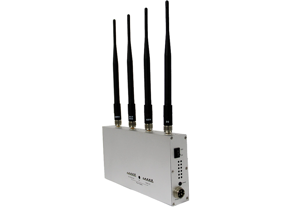 Remote Controlled Mobile Phone Jammer with Up to 15m Shielding Radius