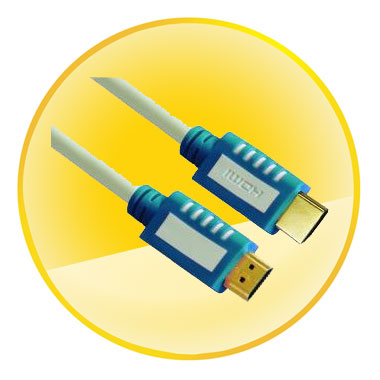 AM-AM Dual Color CCS Connector HDMI Cable