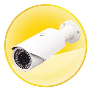 "720P 1/4"" 1.0 Megapixel CMOS Sensor Bullet Camera with Night Vision"