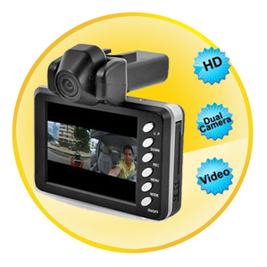720P 2.8 Inch LCD Screen Dual Camera Car DVR