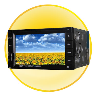 6.2-inch TFT- Screen LCD Car DVD Player with IR Remote Control