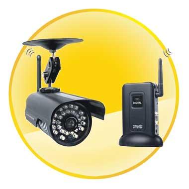2.4GHz Quad View Night Vision Waterproof Digital Outdoor Wireless Hidden Outdoor Security Camera