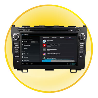 8 inch Digital TFT Touch-Screen Android 4.0 Car DVD for CRV 2006-2011