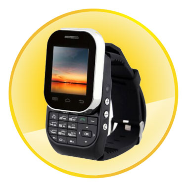 1.44inch SC6531 0.32GHz Dual CardSmart Watch Phone with Slide-out Keyboard
