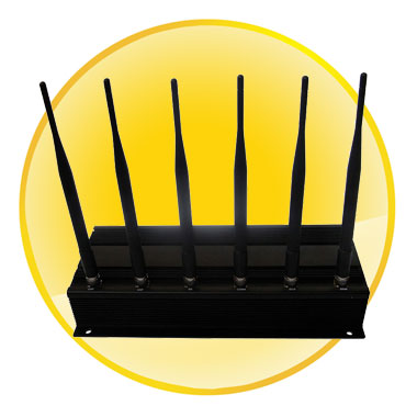 High Power 6 Antenna Cell Phone and WiFi Jammer