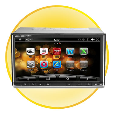 2DIN Dual System 7Inch GPS Car DVD Player (Android and Windows CE6.0)