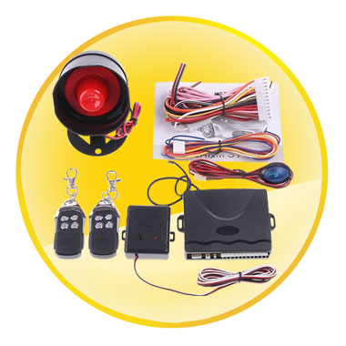 One Way Car Alarm System with LED Indicator