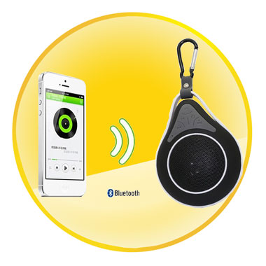 Water Pearl Miniature IPX7 Waterproof Bluetooth Stereo Speaker