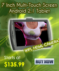 Google Android 2.1 Tablet with 7 Inch Multi-Touch Screen (WiFi, HDMI, Camera)