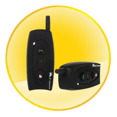 500m Wireless Bluetooth Walkie Talkie for 2 Riders