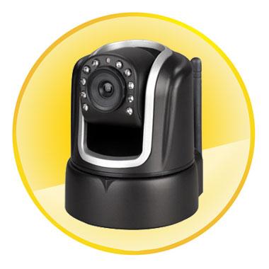 Wireless IP Camera Pan/Tilt 2-ways Audio Mobile Viewing P2P Security Webcam Night vision IR CCTV Indoor