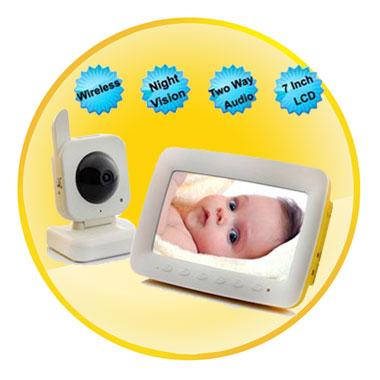7 inch 2.4GHz wireless Digital LCD Baby Monitor Receiver 360TVL
