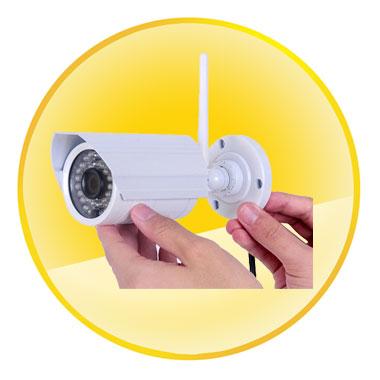 720P 1.0Mega Pixel H.264 IR Night Vision Wireless Wi-Fi P2P Network ONVIF 2.2 Mini Waterproof IP Bullet Camera