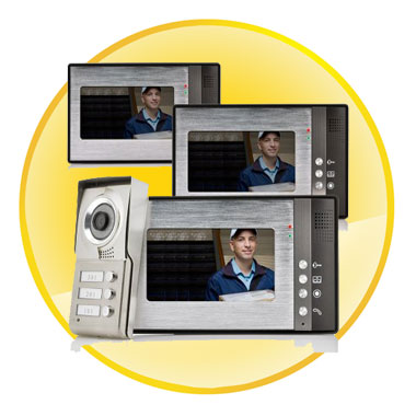 Night Vision 7 inch Video Door Phone For Neighbours 3 Families Apartments Cheap Set